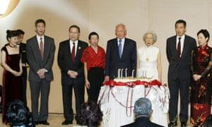 Lee Kuan Yew with family members