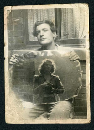 Olwyn Hughes reflected in a mirror as she takes a photograph of her brother Ted, the future poet laureate.