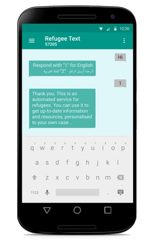 A mobile phone with text on the screen.