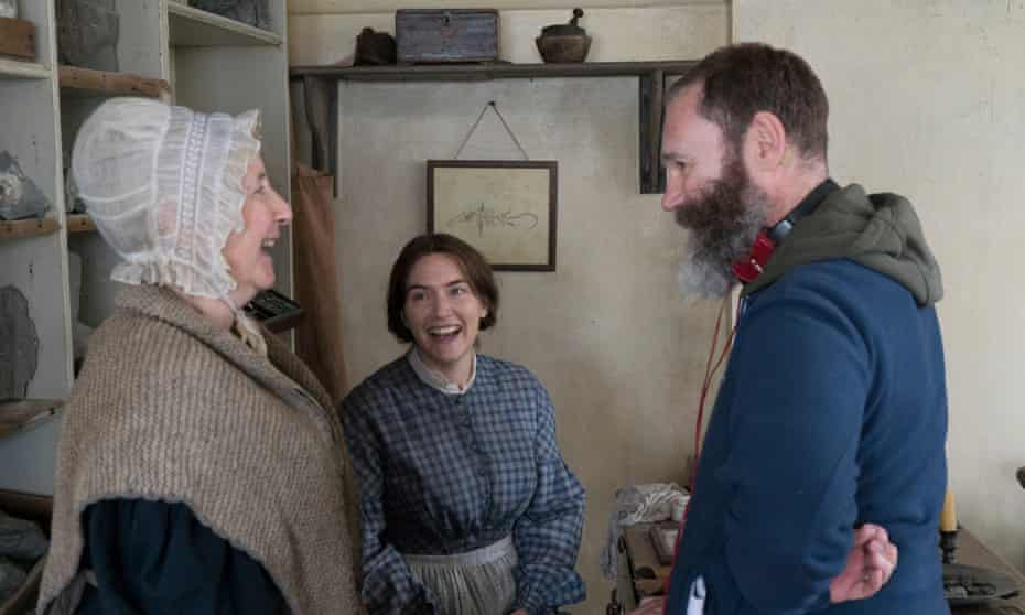 'I always wanted to tell stories' … Gemma Jones, Kate Winslet and Francis Lee on set.