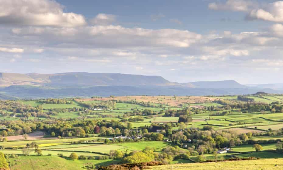 Hergest Ridge, above Kington, looking towards the Black Mountains.