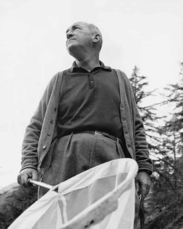 Vladimir Nabokov on a butterfly-hunting expedition near his home in Switzerland in 1962.