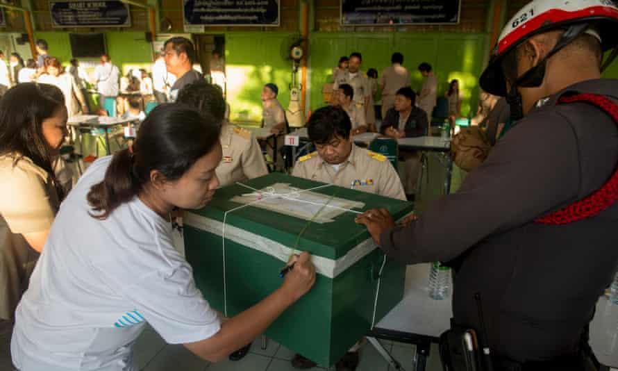 Ballot box in Bangkok