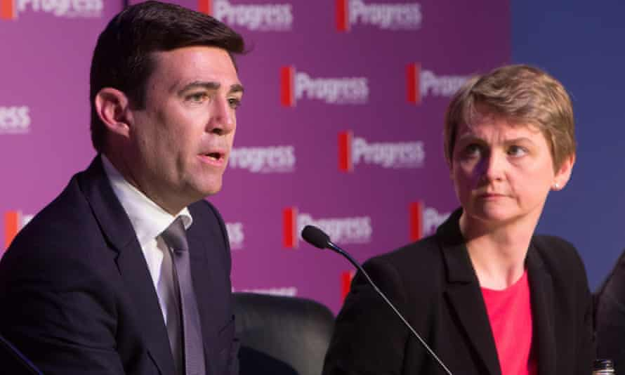 Andy Burnham and Yvette Cooper