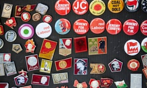 Badges on sale at Labour's annual conference in Liverpool
