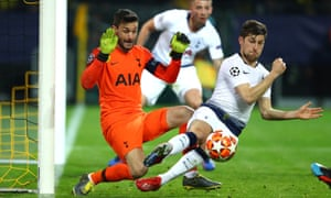 Hugo Lloris and his defence put in an outstanding rearguard action against the Bundesliga leaders.