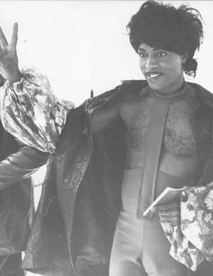 Little Richard at Heathrow in 1972