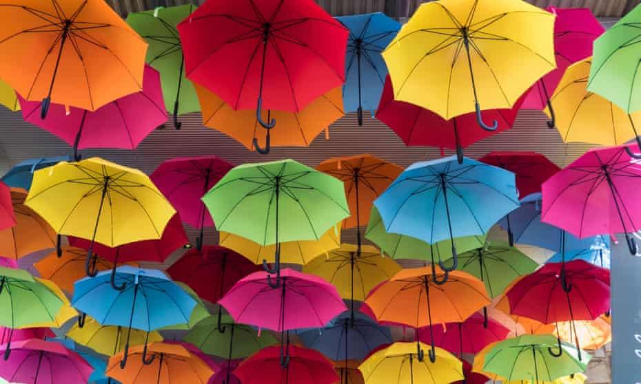A life of their own … umbrellas. Photograph: Alamy