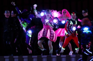 More neon Performers join the peformance.