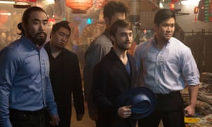 Daniel Radcliffe (centre) in Now You See Me 2.
