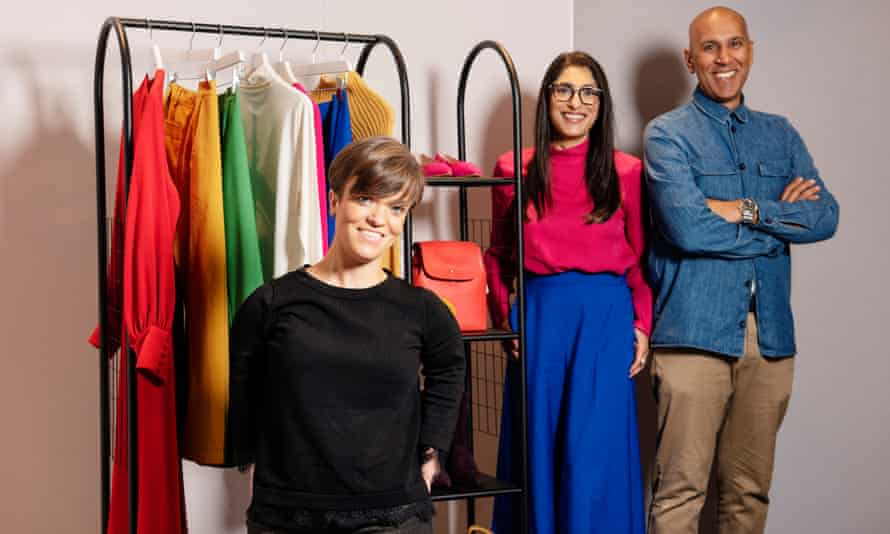 Stylists Lucy Knight , Maya Shah and Gursh Reand at John Lewis, Westfield