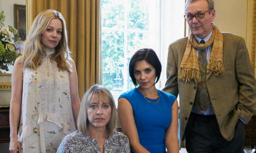 Meet the family firm … Fiona Button as Rose, Nicola Walker as Hannah, Annabel Scholey as Nina and Anthony Head as Oscar in The Split.