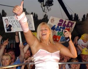 Cause celeb … dental nurse Jade Goody leaves the Big Brother house at Elstree Studios in Hertfordshire, in July 2002.