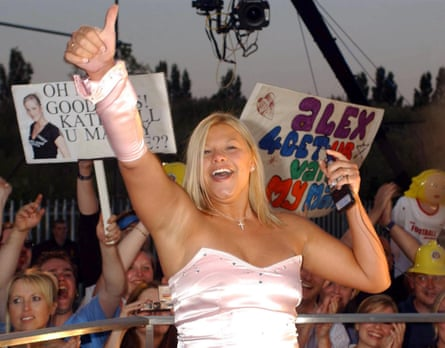 Cause celeb … dental nurse Jade Goody leaves the Big Brother house at Elstree Studios in Hertfordshire, in July 2002.
