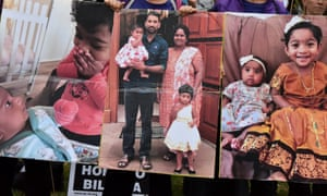 Supporters of a Tamil family fearing forced removal to Sri Lanka stage a vigil in Melbourne