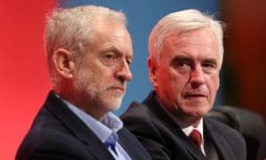 John McDonnell (R) and Jeremy Corbyn
