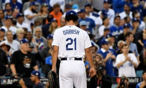 Yu Darvish had a miserable night for the Dodgers