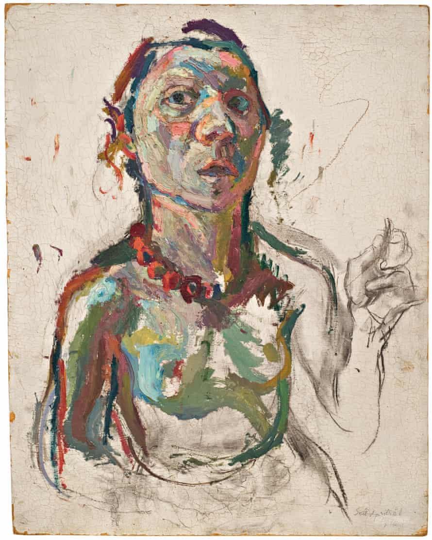 Expressive Self Portrait maria lassnig