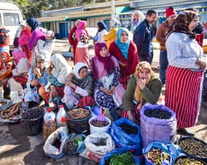 The Rif women are easily identified by the striped material they wrap around their waists. This market was for locals