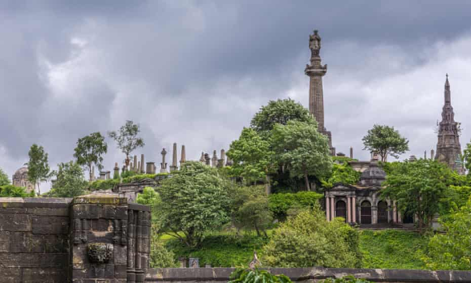 The John Knox statue towers over the Necropolis and the city.