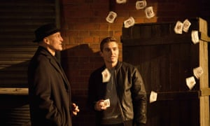 Woody Harrelson and Dave Franco in Now You See Me 2.