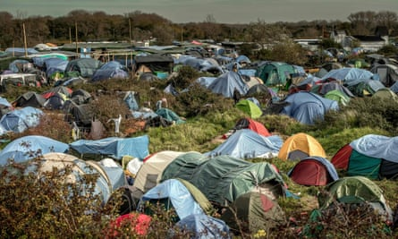 Tents at the 'Jungle' migrant camp in Calais
