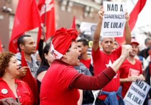 Sao Paulo, Brazil Supporters of former President Luiz Inacio Lula da Silva