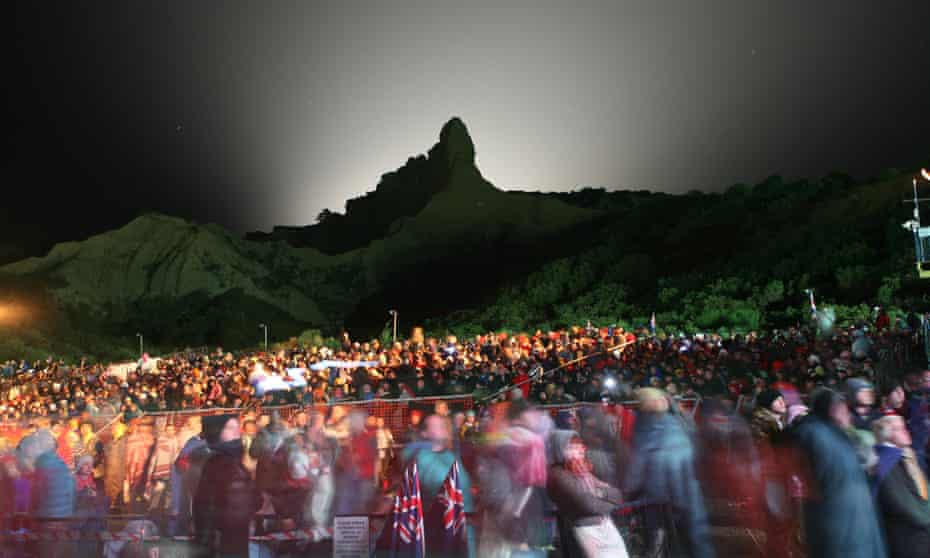 Crowds gather at Anzac Cove for the dawn Anzac Day service at Gallipoli on 25 April 2009.