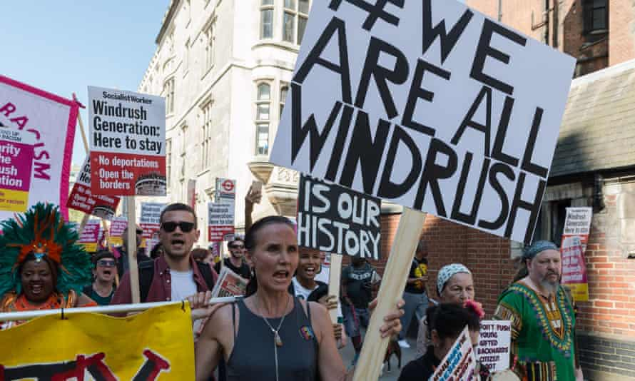 A Windrush march to the Home Office on 5 May
