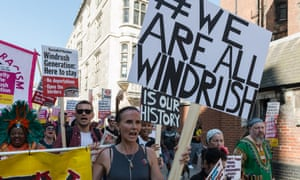 Protesters march to the Home Office in support of the Windrush generation
