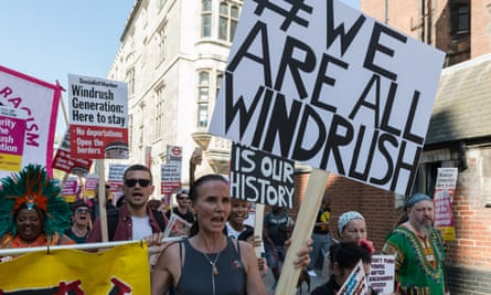 A Windrush solidarity protest in London.