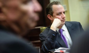 Reince Priebus, the White House chief of staff, rejected reports of contacts with Russia.