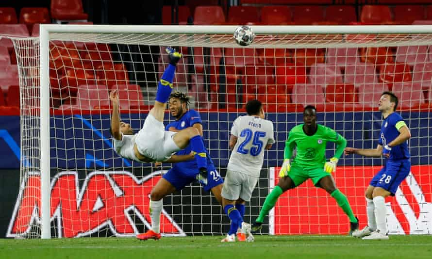 Porto's Mehdi Taremi scores but it was too late to stop Chelsea.