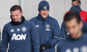 Bastian Schweinsteiger of Manchester United in action during a first-team training session on Monday.