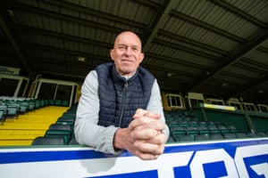 Yeovil Town's caretaker manager Neale Marmon at Huish Park.