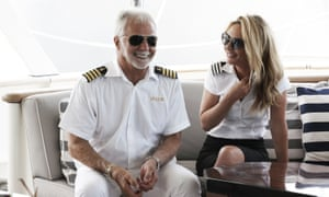 Captain Lee Rosbach with chief steward Kate Chastain in season seven of Below Deck.