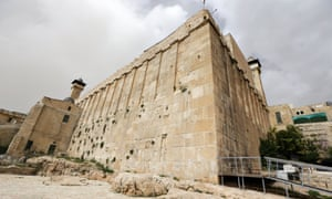 The Ibrahimi mosque/Tomb of the Patriarchs, revered by both Muslims and Jews, in Hebron.
