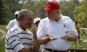 Michael Bloomberg and Donald Trump at the Trump National Golf Course in Briarcliff Manor, New York, on 20 July 2007.