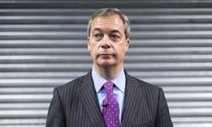 Free pass ... Nigel Farage.