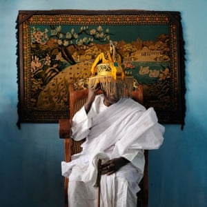 His Majesty Mito Daho Kpassenon, King of Ouidah and Supreme Head of the Voodoo Cult, Ouidah, Benin, 2011 Tchamba is the name of the spirit of the slaves in both local slavery and the western trade of African slaves