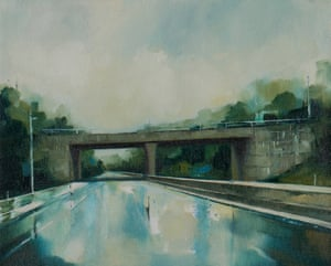 After The Rain motoway bridge painting by artist Jen Orpin.