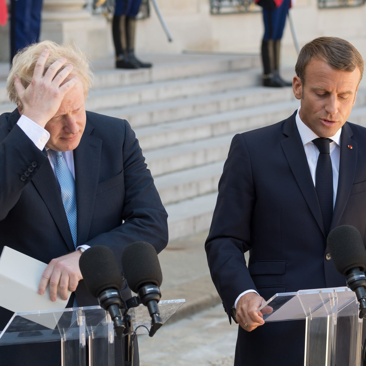 Emmanuel Macron Tells Boris Johnson Any New Brexit Deal Would Have To Be Very Similar To Existing One Live Politics The Guardian