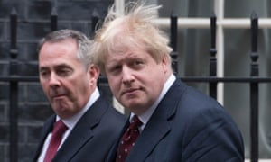Liam Fox with Boris Johnson outside 10 Downing Street.