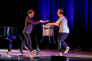 Ben Folds takes requests via paper planes at the Sydney Opera House.