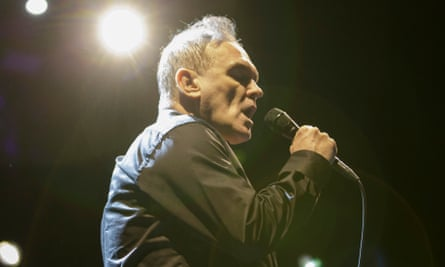 Morrissey performing at the Genting Arena, Birmingham, in February.