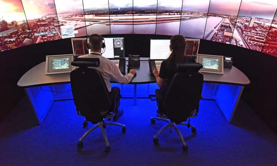 London City airport digital remote tower control room