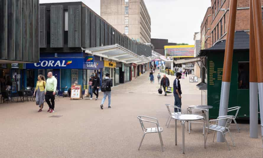 A shopping area in Coventry city centre