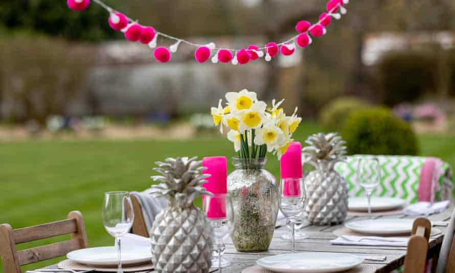 Sales of garden furniture and accessories have soared as Britons prepare for outdoor dining.