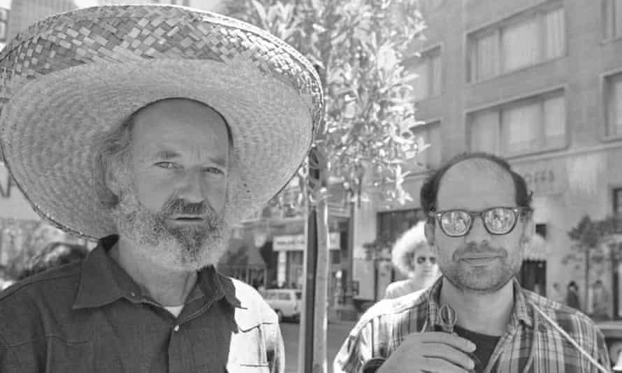 Ferlinghetti, left, with Allen Ginsberg ('Ginzy') in 1971.