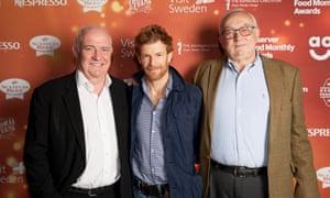 Pierre Koffmann, Lifetime Achievement winner, with fellow chefs Rick Stein and Tom Aikens